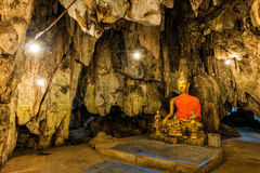 Buddha images in cave. Thailand Royalty Free Stock Photography