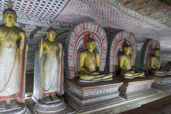 Buddha images in dambulla Stock Images