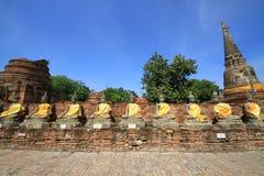 Buddha Images. Buddha Image in Auddhaya Province World heritage city in Thaialnd Royalty Free Stock Photo