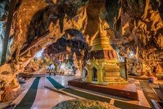 Buddha images inside the Shwe Umin Pagoda Paya, Myanmar royalty free stock image