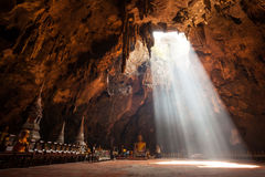 Buddha images in Khao Luang cave Royalty Free Stock Photo