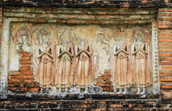 Buddha Images. The old sculpture body of Buddha image in the old temple in Thailand Royalty Free Stock Images