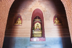 Buddha images in pagoda. Royalty Free Stock Images