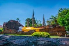 Buddha images and pagodas at Wat Yai Chai Mongkhon in Phra Nakhon Si Ayutthaya Province