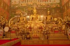 Buddha images room Royalty Free Stock Photos