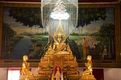 Buddha images statue in church at Wat Saiyai temple Stock Photo