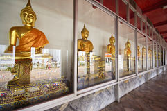 Buddha images in the temple, Bangkok, Thailand Stock Image
