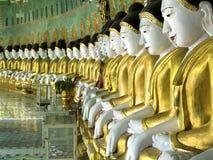 Buddha Images at U Min Thonze Pagoda, Sagaing, Mandalay, Myanmar Royalty Free Stock Photo