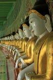 Buddha imagies @ Sagaing Hill Mandalay Stock Image