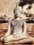 Buddha incantante a Wat Yai Chai Mongkhon, Ayutthaya immagini stock