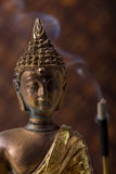 Buddha With Incense Stick Stock Photo