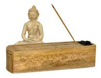 Buddha And Incense Stick Box Stock Images