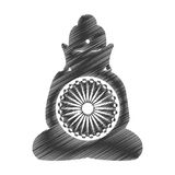 Buddha india culture icon. Vector illustration design Royalty Free Stock Image