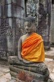 Buddha inside Angkor Wat temples, Cambodia Royalty Free Stock Photo