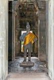 Buddha inside Angkor Wat temples, Cambodia Royalty Free Stock Images