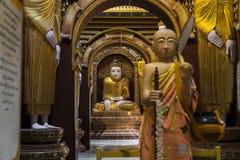 Buddha inside the Tample Stock Photos