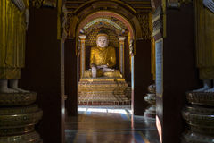 Buddha inside the Tample Royalty Free Stock Photography