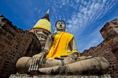 Buddha inside Thailand. The Buddha inside Ayutthaya Thailand stock photo