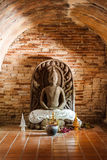 Buddha inside tunnel of temple Royalty Free Stock Image