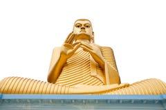 Buddha Isolated on White. Buddha statue in Golden Temple in Dambulla, Sri Lanka Stock Photos