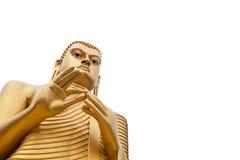Buddha Isolated on White. Buddha statue in Golden Temple in Dambulla, Sri Lanka Stock Image