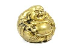 buddha isolerade att skratta Arkivfoton