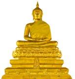 buddha isolerade statyn Arkivbilder