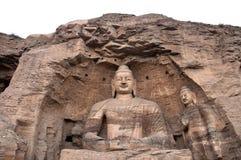 buddha jätte- grottoesshanxi yungang Royaltyfri Bild