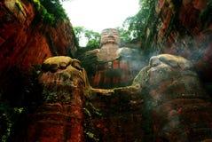 buddha jätte- leshan sichuan Arkivbilder