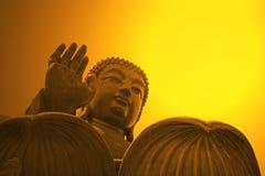 buddha jättestaty Royaltyfri Fotografi