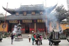 buddha jadeshanghai tempel Royaltyfri Bild