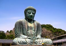 buddha japan staty Arkivfoto