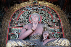 Buddha Joss,China. The mud sculpture of buddha at the Shuanglin temple in Pingyao,Shannxi,China stock photography
