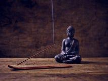 Buddha joss stick smoke wood Royalty Free Stock Photography