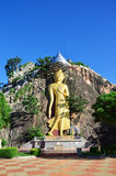 Buddha at Khao Ngoo rock park Ratchaburi, Thailand Stock Photography