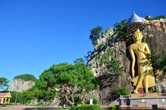 Buddha at Khao Ngoo rock park Ratchaburi, Thailand Stock Photo