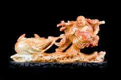 buddha kinesisk lycklig staty arkivbild