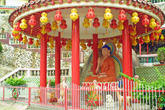 buddha kinesiskt statytempel royaltyfria bilder