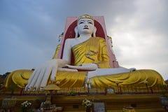 Buddha of Kyaik Pun Pagoda Bago in meditating posture Stock Images