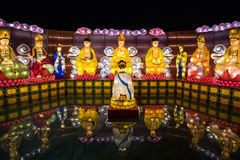 Buddha Lantern Festival. 2016 Dazu Rock Carvings of Chinese Culture World Tour in Taiwan stock images