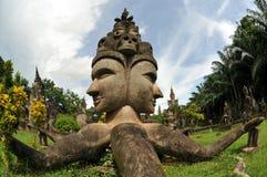 buddha laos park fotografering för bildbyråer