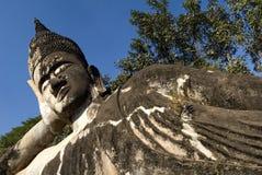buddha laos reclining vientiane Royaltyfri Bild
