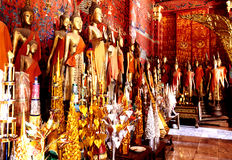buddha laos statyer Royaltyfria Bilder