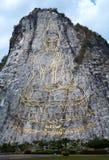 Buddha laser carved, Pattaya, Thailand Stock Image