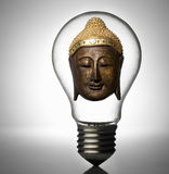 Buddha in a light bulb Royalty Free Stock Photos