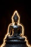 buddha lighting Royaltyfri Bild