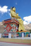 Buddha in Likir monastery in Ladakh, India Royalty Free Stock Photos