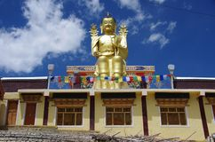 Buddha in Likir monastery in Ladakh, India Stock Photo