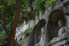 The buddha of Lingyin scenic area Stock Photography