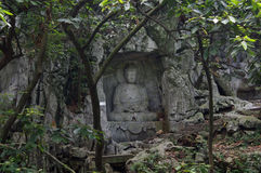The buddha of Lingyin scenic area Stock Photos